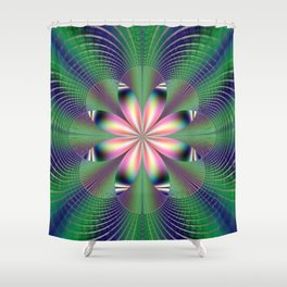 Fractal Floret Shower Curtain