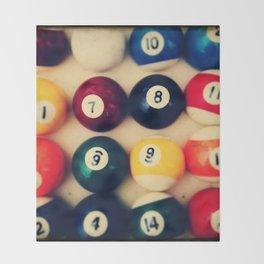 TTV Pool Balls Photography Throw Blanket