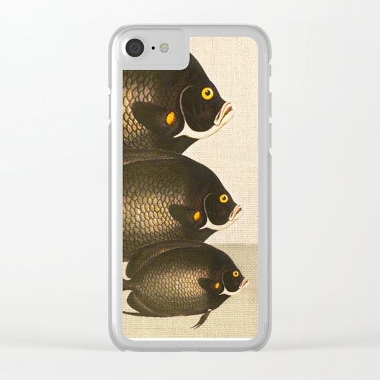 Fish Classic Designs 11 Clear iPhone Case