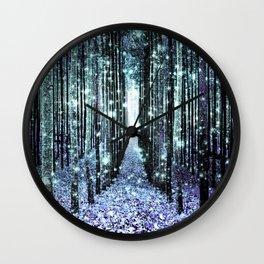 Magical Forest Lavender Aqua/Teal Wall Clock