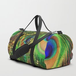 Fantasy Peacock Feathers Duffle Bag