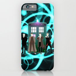 The Doctors And Tardis iPhone Case