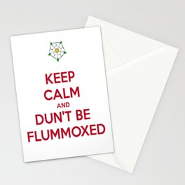 Keep Calm and Dun't Be Flummoxed Stationery Cards