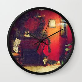 By The Chimney With Care Wall Clock
