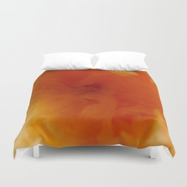Textures (Orange version) Duvet Cover