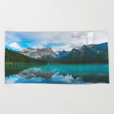 The Mountains and Blue Water Beach Towel