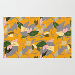 Floral and thorn pattern Rug