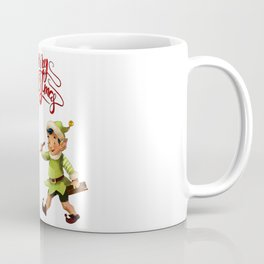 Merry Christmas Embroidery Santa Elf Coffee Mug