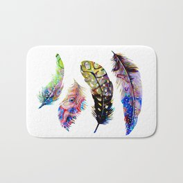Psychedelic Feathers Bath Mat