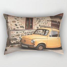 Yellow car vintage Rectangular Pillow