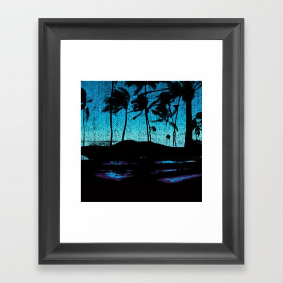 Hawaii Lap Framed Art Print