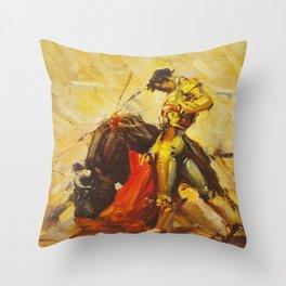 Vintage Mexico Bullfighting Travel Throw Pillow