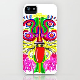 Maya lion iPhone Case