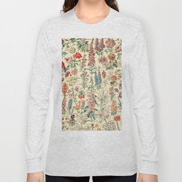 Vintage Floral Drawings // Fleurs by Adolphe Millot XL 19th Century Science Textbook Artwork Long Sleeve T-shirt