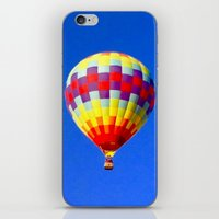 hot air balloon iPhone & iPod Skins featuring  hot air balloon by Lavender~Ramonde