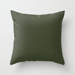 Dark Natural Green Throw Pillow