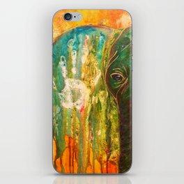 Elephant Painting iPhone Skin