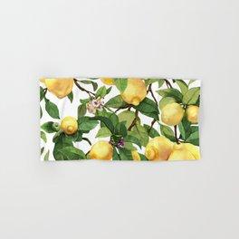 Watercolor lemon Hand & Bath Towel