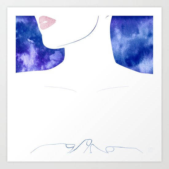 Closer V Art Print