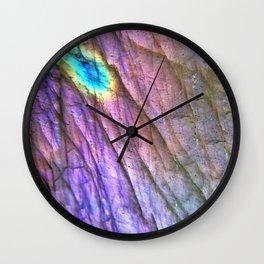 Rainbow Labradorite Wall Clock