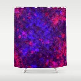 Dark Neon Grunge Shower Curtain