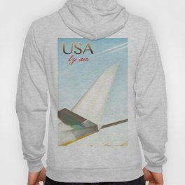 USA By Air vintage travel poster Hoody