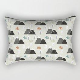 Winter Mountain Rectangular Pillow