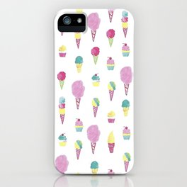 Ice Cream & Cotton Candy iPhone Case