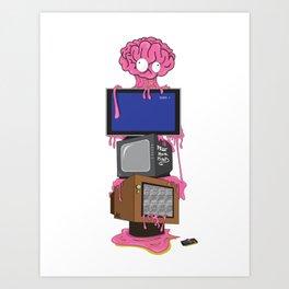 T.V Brainwash Art Print