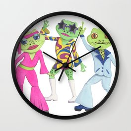 70's Disco Dance Party Wall Clock