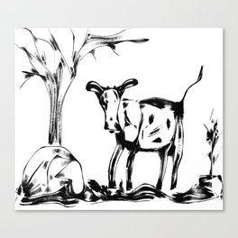 This Old Cow Canvas Print