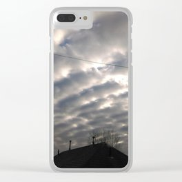 scales in the sky Clear iPhone Case