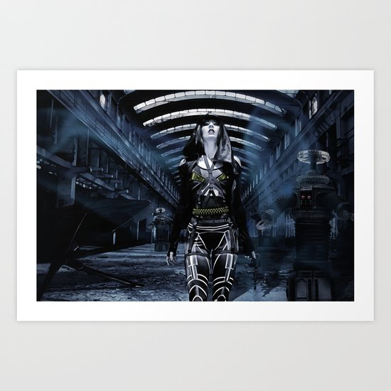 DWR Cyborg and Robots  Art Print