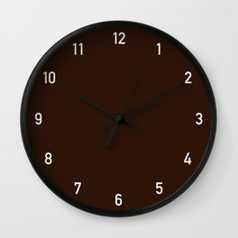 Numbers Clock - Chocolate Wall Clock