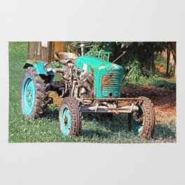 Old traditional Lindner tractor | conceptual photography Rug
