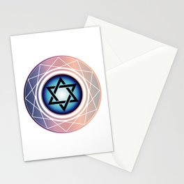 Jewish Star of David Stationery Cards