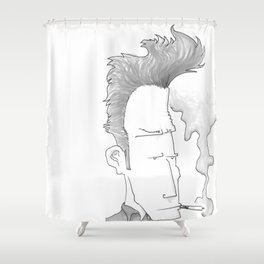 Big-haired Smoker #1 Shower Curtain