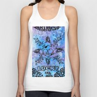 n7 Tank Tops featuring Lucky goes pop n7 by Lucky art