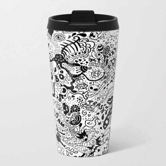 cute graphite Metal Travel Mug