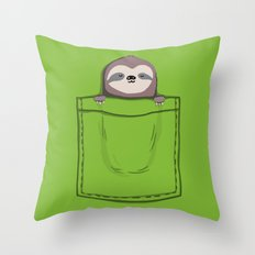 My Sleepy Pet Throw Pillow