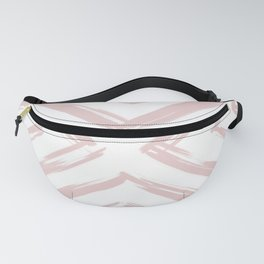 Minimalistic Rose Gold Paint Brush Triangle Diamond Pattern Fanny Pack