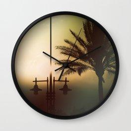 Mysterious sunset Wall Clock