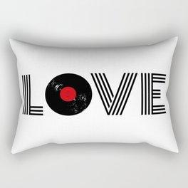 Vinyl record love Rectangular Pillow