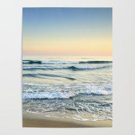 Serenity sea. Vintage. Square format Poster