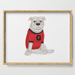 Another bulldog from Georgia Serving Tray