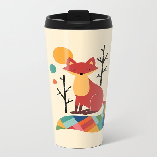 Rainbow Fox Metal Travel Mug