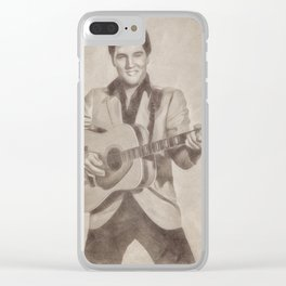 Elvis Presley by JS Clear iPhone Case