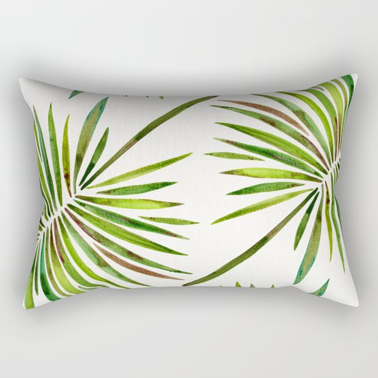 Tropical Fan Palm – Green Rectangular Pillow