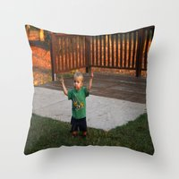 ace Throw Pillows featuring Ace by Samual Lewis Davis BMmSt CQU