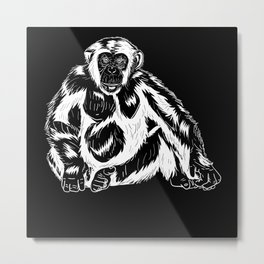Chimpanzee Primate Saying Gift Idea Design Metal Print